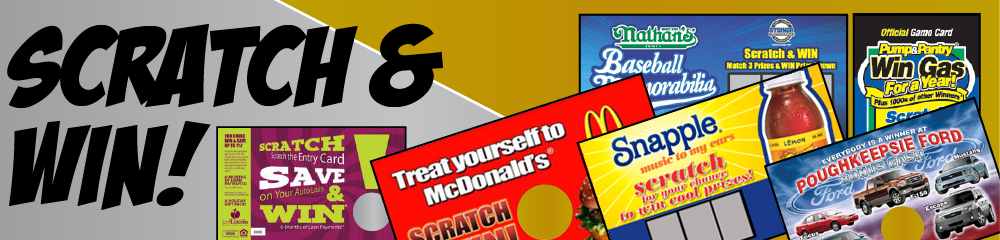 scratch card promotional scratch and win